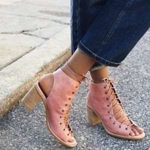 Free People x Jeffrey Campbell Minimal Lace Up